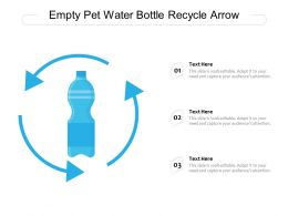 Empty Pet Water Bottle Recycle Arrow