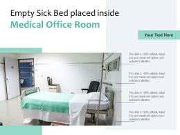 Empty Sick Bed Placed Inside Medical Office Room