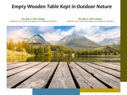 Empty Wooden Table Kept In Outdoor Nature