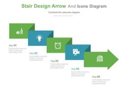 en Stair Design Arrow And Icons Diagram Flat Powerpoint Design