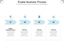 Enable Business Process Ppt Powerpoint Presentation Summary Infographics Cpb