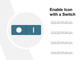 Enable Icon With A Switch