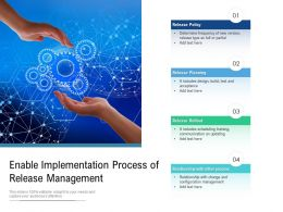 Enable Implementation Process Of Release Management