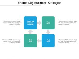 Enable Key Business Strategies Ppt Powerpoint Presentation Gallery Outfit Cpb