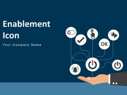Enablement Icon Notification Bell Sound Waves Mobile Circle