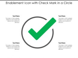 Enablement Icon With Check Mark In A Circle