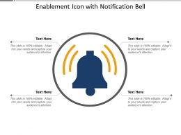 Enablement Icon With Notification Bell