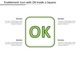 Enablement Icon With Ok Inside A Square
