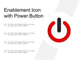 Enablement Icon With Power Button