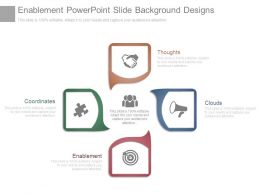 Enablement Powerpoint Slide Background Designs