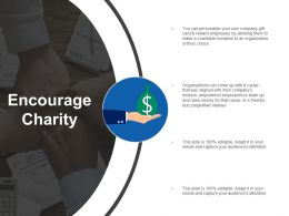 Encourage Charity Marketing Ppt Infographic Template Slide Portrait