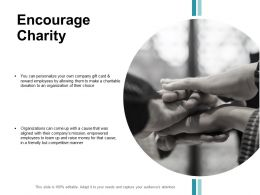 Encourage Charity Organizations Ppt Powerpoint Presentation File Rules
