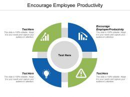 Encourage Employee Productivity Ppt Powerpoint Presentation Portfolio Infographics Cpb