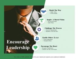 Encourage Leadership Model The Way Inspire A Shared Vision