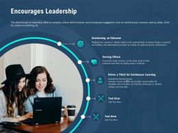 Encourages Leadership By Inspiring Ppt Powerpoint Presentation Show Sample