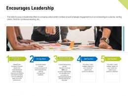 Encourages Leadership Continuous Learning Ppt Design Ideas