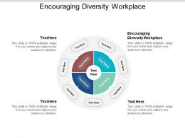 Encouraging Diversity Workplace Ppt Powerpoint Presentation Styles Design Inspiration Cpb