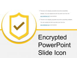 Encrypted Powerpoint Slide Icon