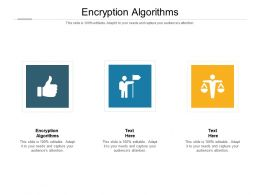 Encryption Algorithms Ppt Powerpoint Presentation Infographic Template Layouts Cpb