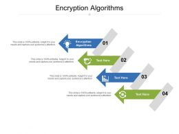 Encryption Algorithms Ppt Powerpoint Presentation Infographics Objects Cpb