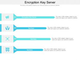 Encryption Key Server Ppt Powerpoint Presentation Icon Show Cpb