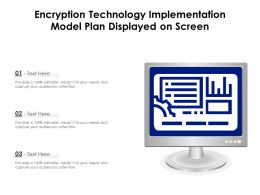 Encryption Technology Implementation Model Plan Displayed On Screen