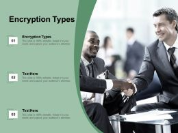 Encryption Types Ppt Powerpoint Presentation Infographics Ideas Cpb