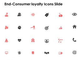 End Consumer Loyalty Icons Slide Mind Map Ppt Powerpoint Presentation Slides
