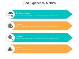 End Experience Metrics Ppt Powerpoint Presentation Ideas Summary Cpb