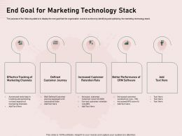 End Goal For Marketing Technology Stack Journey Ppt Powerpoint Templates