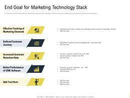 End Goal For Marketing Technology Stack Martech Stack Ppt Outline Example Introduction