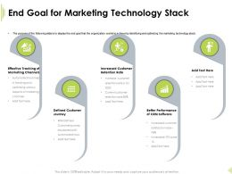 End Goal For Marketing Technology Stack Retention Rate Ppt Background Image