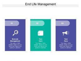 End Life Management Ppt Powerpoint Presentation Model Professional Cpb