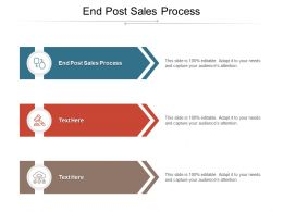 End Post Sales Process Ppt Powerpoint Presentation Outline Shapes Cpb