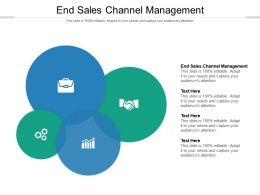 End Sales Channel Management Ppt Powerpoint Presentation Ideas Shapes Cpb