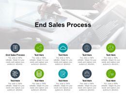 End Sales Process Ppt Powerpoint Presentation Model Slide Cpb