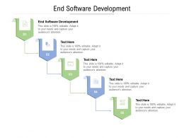 End Software Development Ppt Powerpoint Presentation Model Guide Cpb