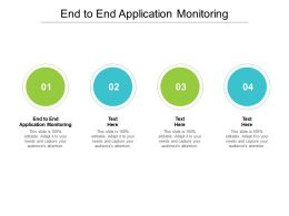 End To End Application Monitoring Ppt Powerpoint Presentation Summary Graphics Example Cpb