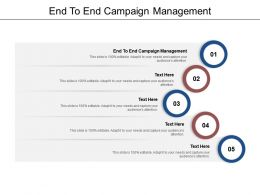 End To End Campaign Management Ppt Powerpoint Presentation Icon Layout Ideas Cpb