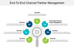 End To End Channel Partner Management Ppt Powerpoint Presentation Styles Format Ideas Cpb