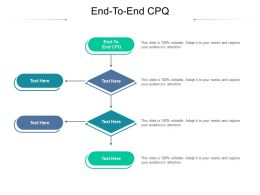 End To End CPQ Ppt Powerpoint Presentation Outline Layouts Cpb