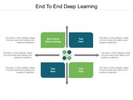 End To End Deep Learning Ppt Powerpoint Presentation Inspiration Deck Cpb
