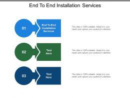 End To End Installation Services Ppt Powerpoint Presentation Slides Inspiration Cpb