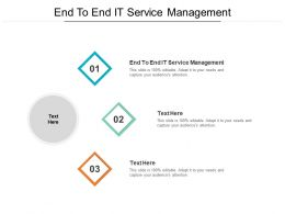 End To End IT Service Management Ppt Powerpoint Presentation Icon Maker Cpb