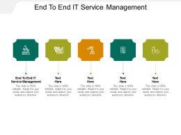 End To End IT Service Management Ppt Powerpoint Presentation Portfolio Pictures Cpb