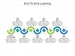 End To End Learning Ppt Powerpoint Presentation Pictures Guidelines Cpb