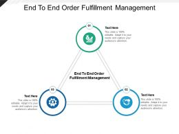 End To End Order Fulfillment Management Ppt Powerpoint Presentation Ideas Objects Cpb