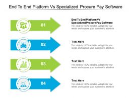 End To End Platform Vs Specialized Procure Pay Software Ppt Powerpoint Presentation Slides Guide Cpb