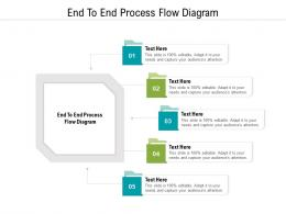 End To End Process Flow Diagram Ppt Powerpoint Presentation Pictures Topics Cpb