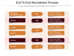 End To End Recruitment Process Ppt Powerpoint Presentation File Summary Cpb